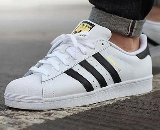 三叶草/Adidas Original Superstar White/Black 白黑金标莆田鞋!货号:C77124