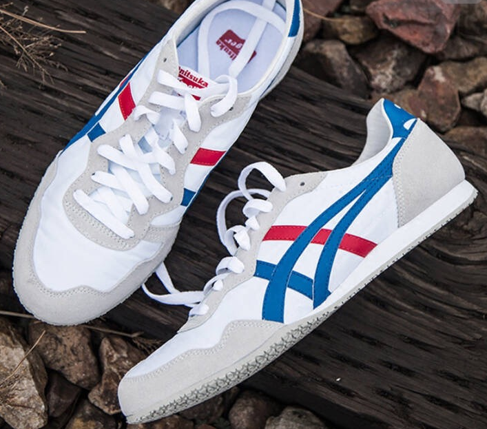 1234bb:Onitsuka Tiger Serrano White/Blue 白灰/蓝红莆田鞋!