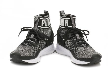 Puma Ignite evoKNIT Black/White 黑白莆田高帮鞋!货号:189697-01