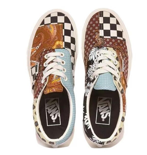 nike tn:Vans Era Tiger Patchwork 图案混合莆田鞋!货号:VN0A4U391IO