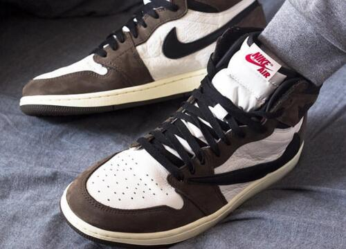 耐克/Air Jordan 1 Travis Scott Mocha TS联名/棕倒钩莆田鞋!货号:CD4487-100