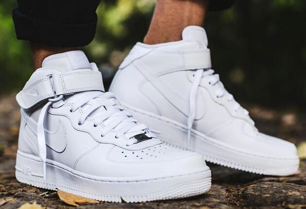 Nike Air Force 1 Mid White  纯白Mid莆田鞋!货号:315123-111