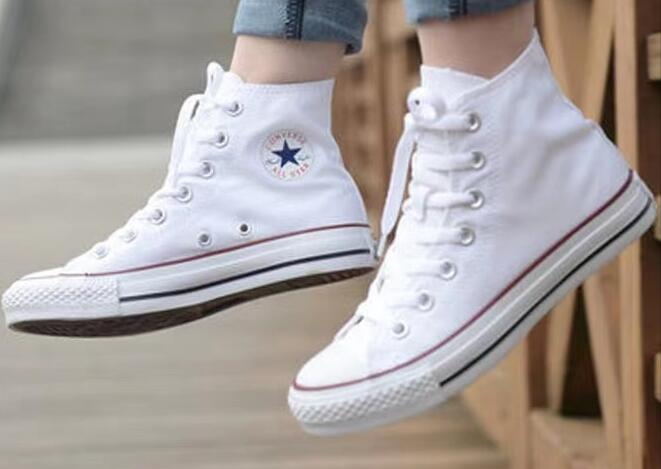 德隆威廉姆斯中文网:Converse Chuck Taylor All Star Optical White 白红Hi莆田鞋!货号:101009;M7650C;W7650