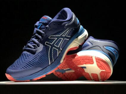 Asics Gel-Kayano 25  Indigo Blue/White 深蓝/橙莆田鞋!货号:1011A029-400