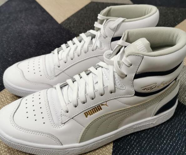 中鞋网:Puma Ralph Sampson White/Gray Violet 白蓝灰莆田鞋!