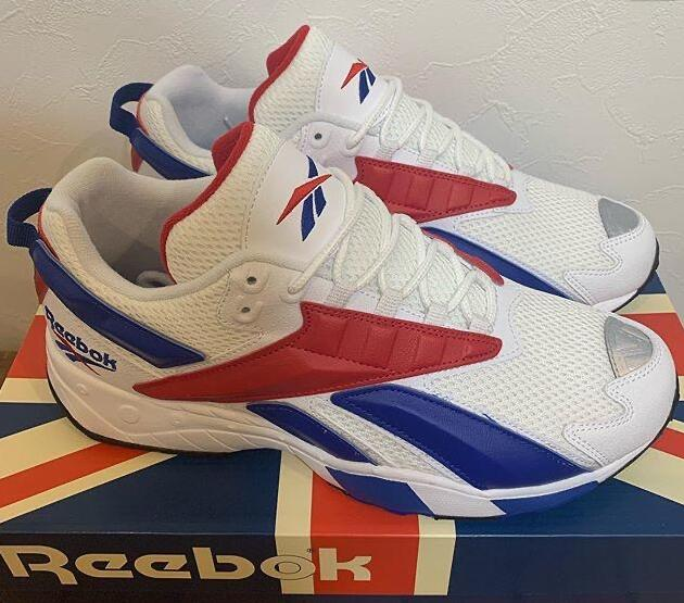 linen:Reebok Interval 96 Royal Scarlet 白蓝红莆田鞋!货号:EH3102;FV5520