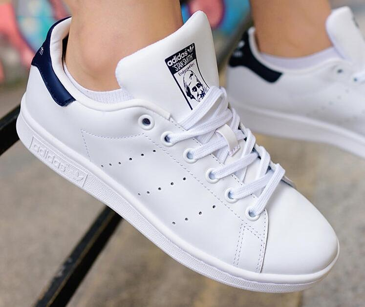 圣恩熙女鞋:Adidas Originals Stan Smith White / Navy 海军蓝尾!