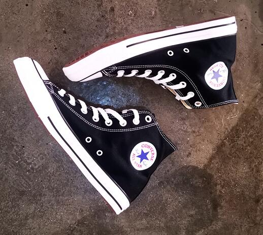 匡威/Converse Chuck Taylor All Hi Black White 黑色Hi莆田鞋!货号:101010
