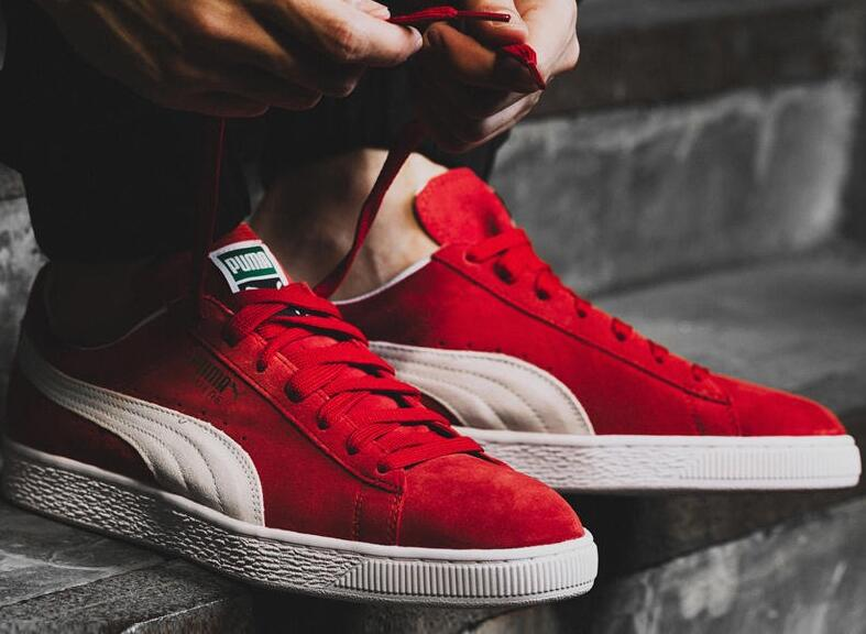 nike woven:Puma Suede Classic Team Regal Red 红/米色莆田鞋!货号:352634-65;352634-05