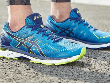Asics Gel-Kayano 23 Thunder Blue/Safety Yellow/Indigo Blue 孔雀蓝莆田鞋!货号:T646n-4907